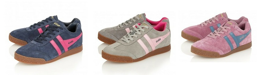 gola pink suede trainers