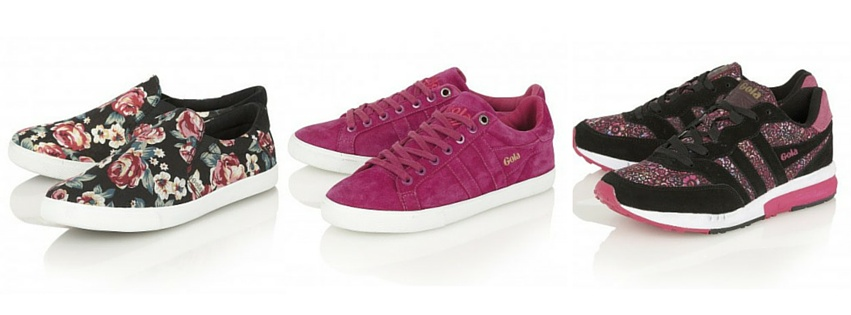 gola pink patterned trainers