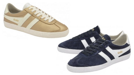 Gola Specialists Navy and Metallic Gold