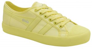 gola coaster neon yellow trainers women's