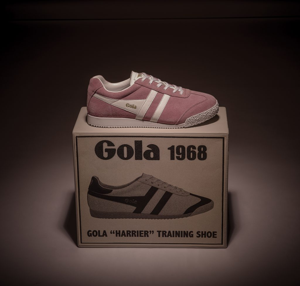 gola bullet pink trainer lifestyle product shot