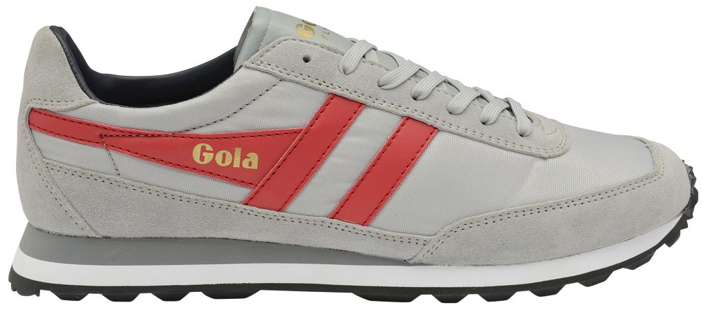 gola classics light grey flyer red stripe