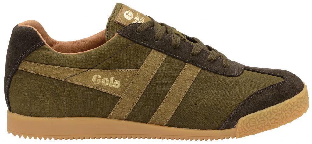 gola harrier khaki millerain sneaker
