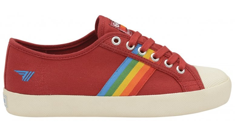 rainbow coaster women's red gola