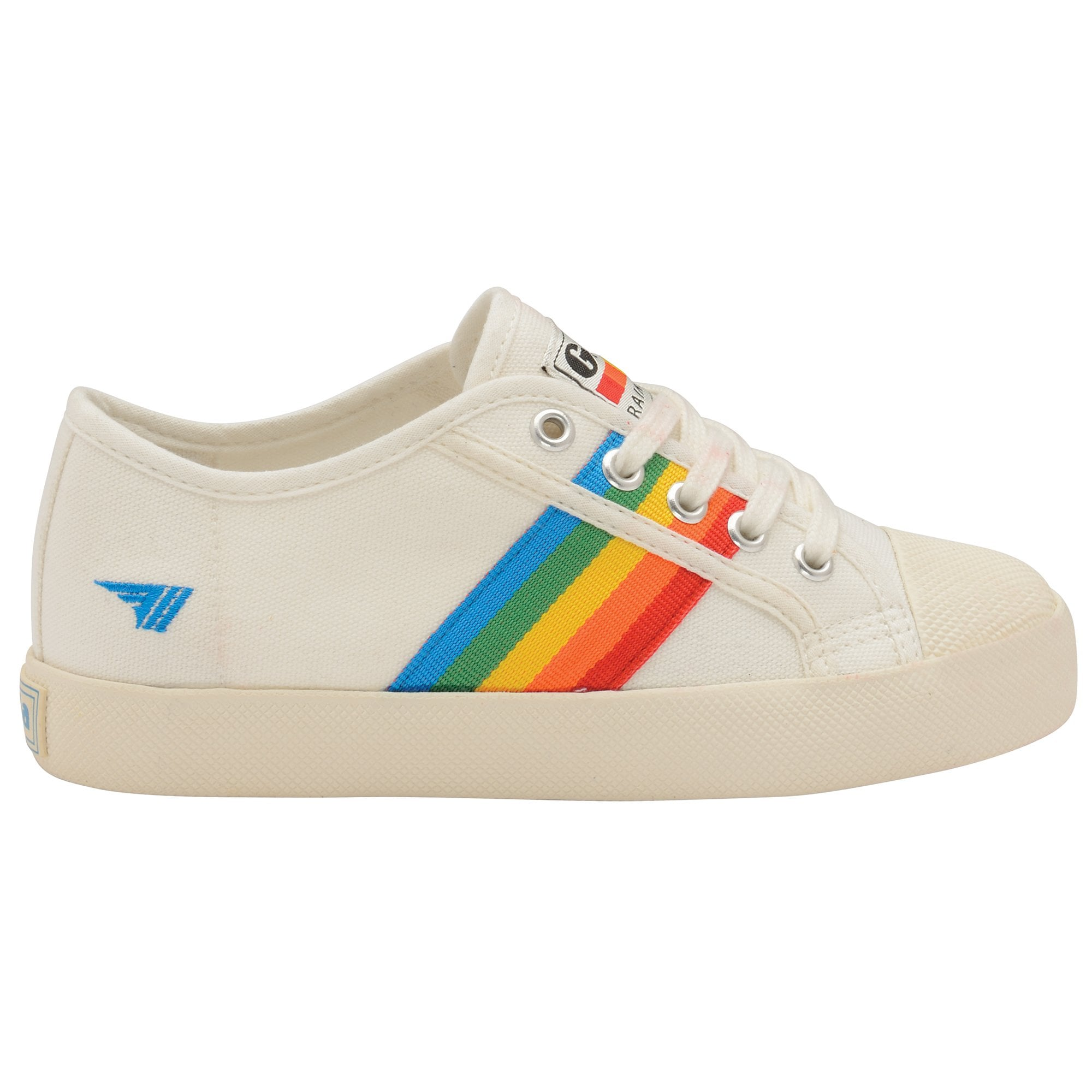 Buy Gola kids Coaster Rainbow trainers in off white/multi online