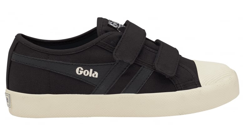 Women's Gola Coaster Sneakers (Black/Black/Off-White) - VT967S53