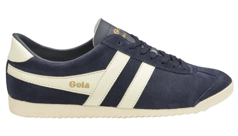 b00cc0ce1beb9 Buy Gola mens Bullet suede trainer in navy/off white online at gola