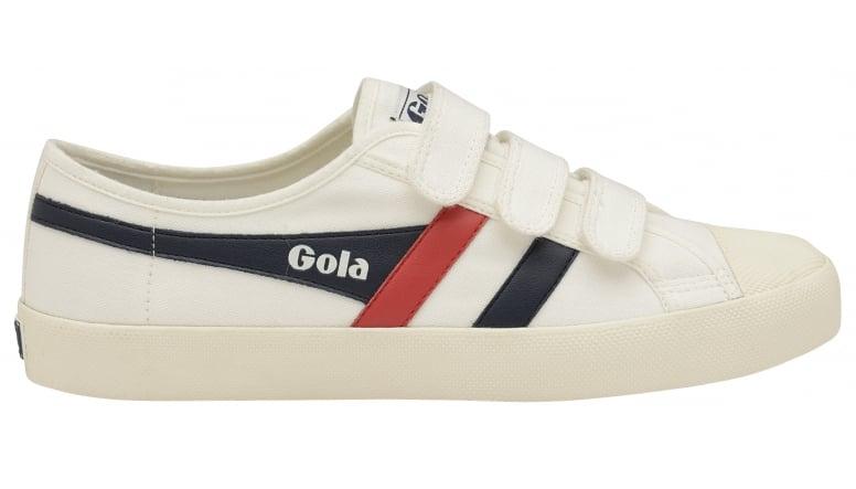 Mens Coaster Velcro White Trainers Gola F2x9oYe