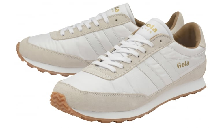 Mens Flyer White/Gum Trainers Gola YDe0x9