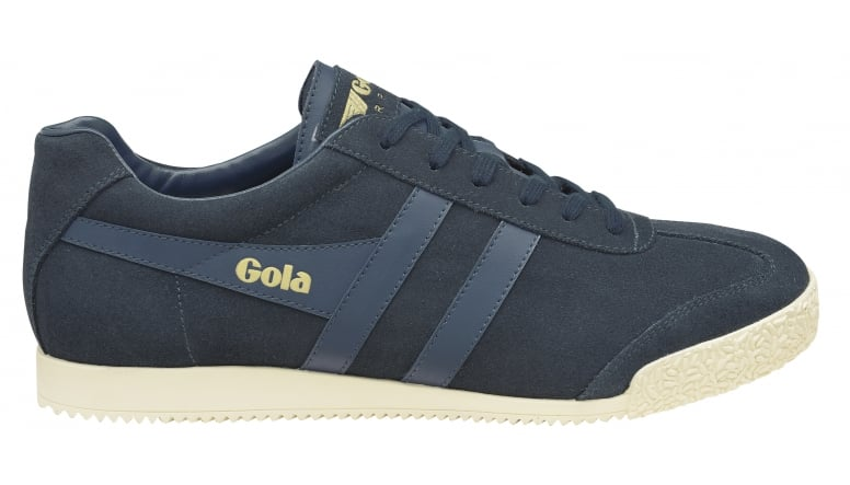 d4c7ccc494b2b Buy Gola mens Harrier Suede trainer in navy/off white online at gola