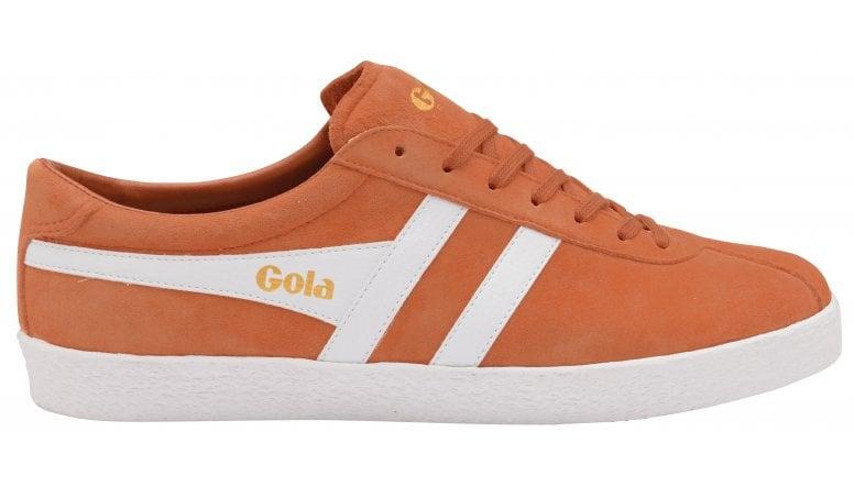 293e44e4565560 Buy Gola mens Trainer Suede orange/white trainer online at gola.co.uk