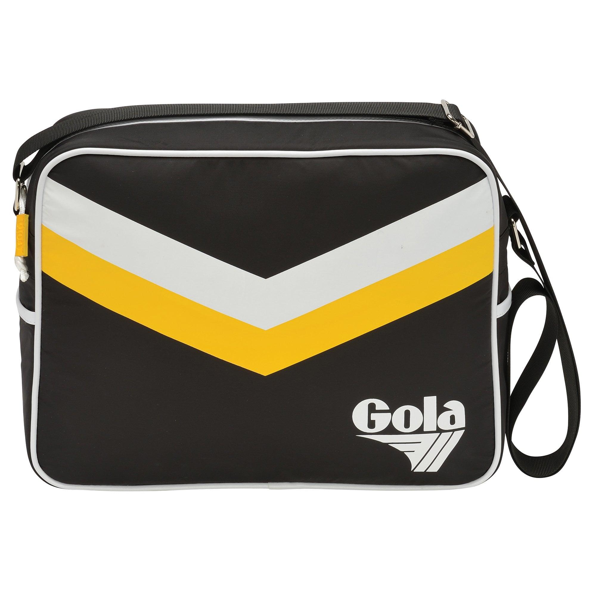 Black Gray  and White Chevron Messenger Bag