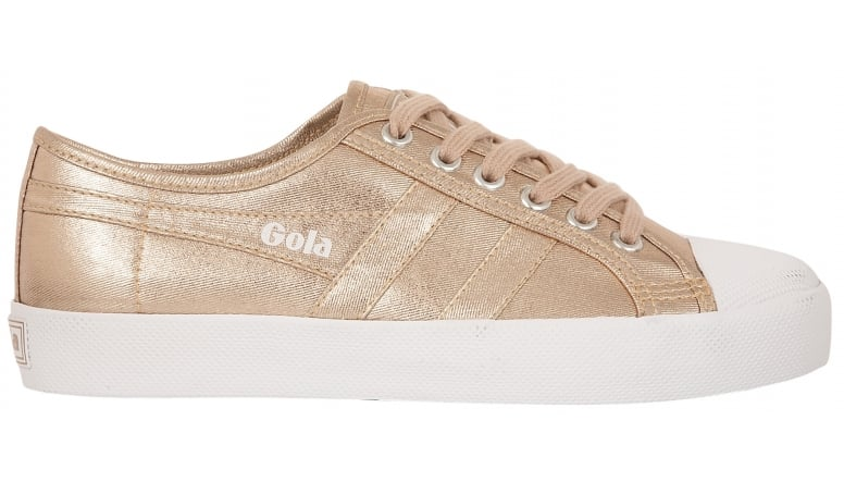 Gola Damen Coaster Metallic Sneaker, Gold (Rose Gold), 41 EU