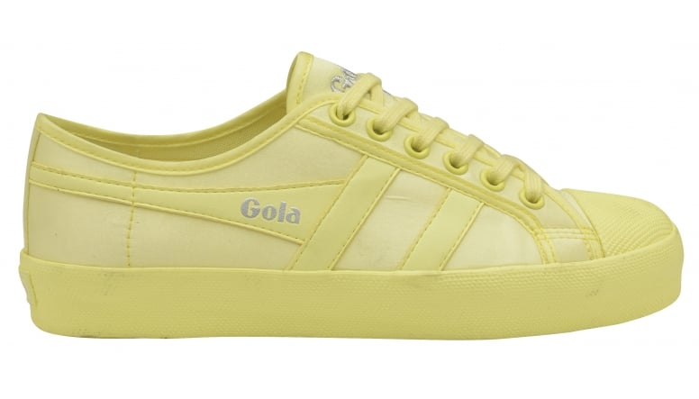 Neon in Coaster Satin womens trainer Gola neon online yellow Buy 4nwOtqBx