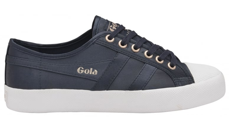 Womens Coaster Satin Navy/White Trainers Gola WG9X9Zxm