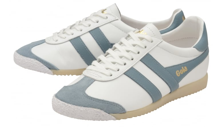 Womens Harrier 50 Leather White/Sky Blue Trainers Gola LFyEaS