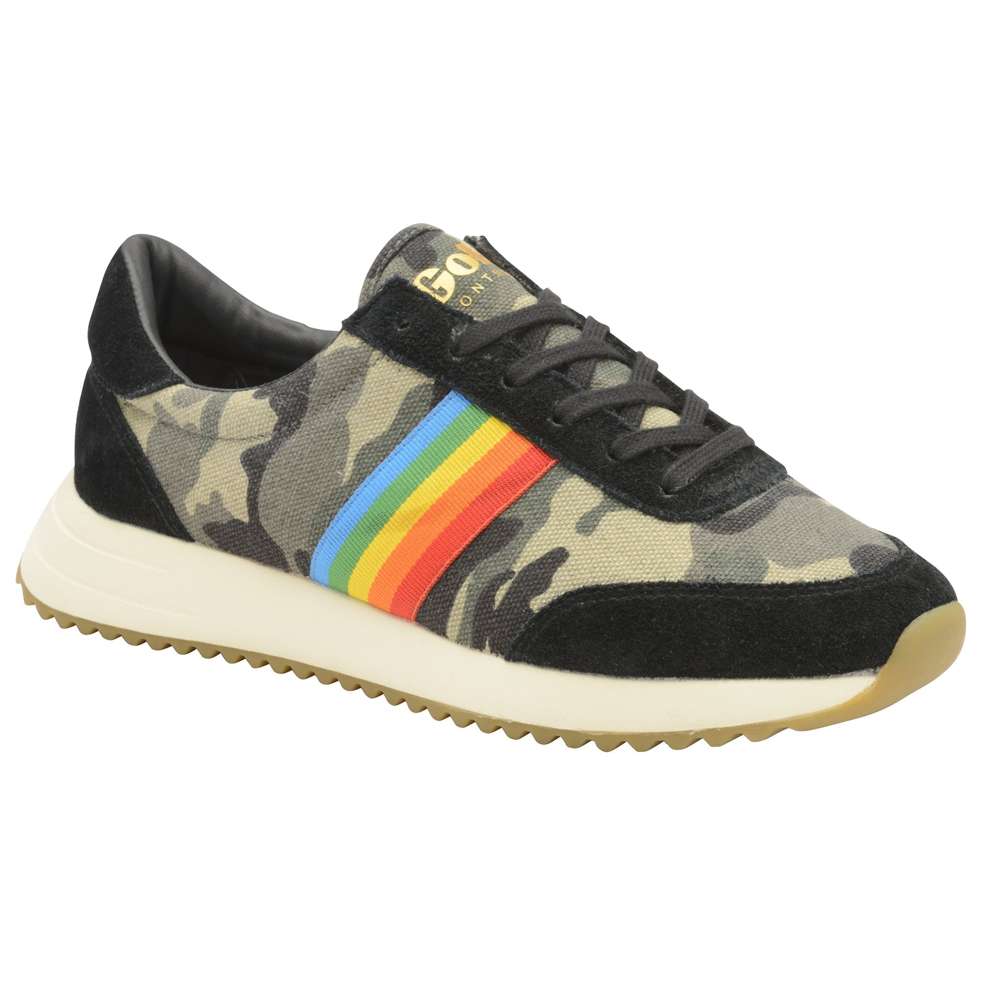Gola womens montreal trainers in camo