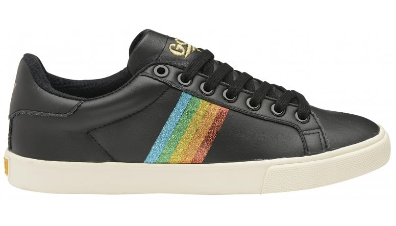 8388739511aa Buy Gola womens Orchid Rainbow Glitter trainer in black online